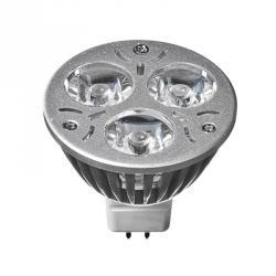 FORZA Лампа светодиодная высокомощная, цоколь GU5.3, 3 Вт LED, 3Вт, 3500K, 12В, ресурс 30 000 ч.