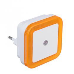 Ночник в розетку 220-240В, пластиковый с датчиком освещения LED, 4 цвета