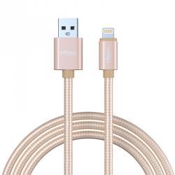 FORZA USB Шнур для зарядки с подкл. к комп., в оплетке, 1,5 м, 1А, 3 цвета, пластик, ткань, Эп