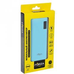 FORZA Аккумулятор мобильный, с цифр.индикатором зарядки, фонариком,14,7см, 8000МАч, пластик, 4 цвета
