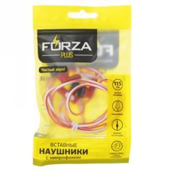 FORZA Наушники, длина:1,15м, с микрофоном чувствительность 96±3dB, 3.5мм, 20-20.000гц, 16Ом, 3 цвета