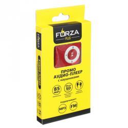 FORZA Аудио-плеер, MicroSD-слот, WAV, WMA, MP3, 85мАч, 3.5мм USB 2.0/1.1, металл, науш 60см, FM, 4цв