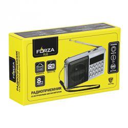 FORZA Радиоприемник переносной, аккумулят., USB, слот Micro-sd, FM 87,5-108 МГц