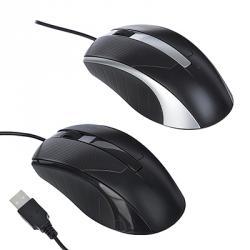 FORZA Компьютерная мышь проводная Стандарт, провод 1,25м, прорезин, 2 цвета
