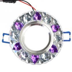 FORZA Светильник встраиваемый, № 25 лампа MR16, цоколь GU 5.3, стекло с подсветкой d90мм