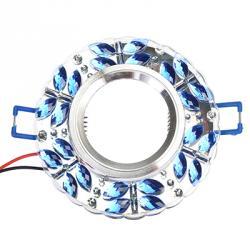 FORZA Светильник встраиваемый, № 26 лампа MR16, цоколь GU 5.3, стекло с подсветкой d90мм