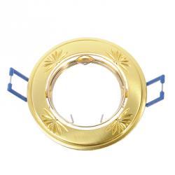 FORZA Светильник встраиваемый литой, № 30 лампа MR16, цоколь GU 5.3, d83мм, цинк, цвет золото