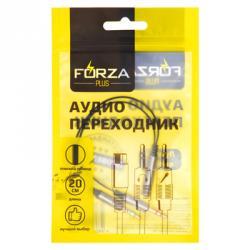 FORZA Аудио переходник 3,5 мм mini Jack М - 2х3.5 мм F, 20см