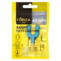 FORZA Аудио переходник 3.5 мм mini Jack М - 2х3.5 мм F (наушники)