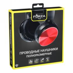 FORZA Наушники с микрофоном полноразмерные под металлик, 1.2м, 2 цвета