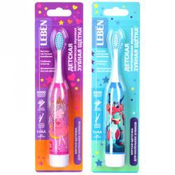 FORZA Зубная щетка электрическая детская, 18х2,6х2,6 см, 1АА, 2 цвета
