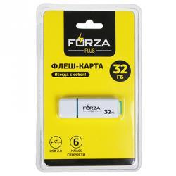 FORZA Флеш-карта, 32 гб, 6 класс, блистер, пластик, цвет белый