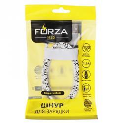 FORZA Шнур для зарядки micro USB, 1.5 А, оплетка питон, 1м