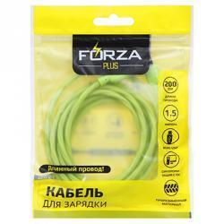 FORZA Кабель для зарядки Micro USB, 2м, 1,5А, коннект с ПК, 3 цвета, коробка ПВХ