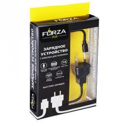 FORZA Кабель для зарядки, длина провода 1м, 1А, micro USB, 220В, 2 цвета