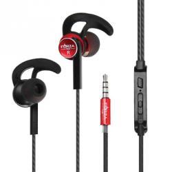 FORZA Наушники с мешочком вакумные, пластик, 3 пары насадок, 4 цвета