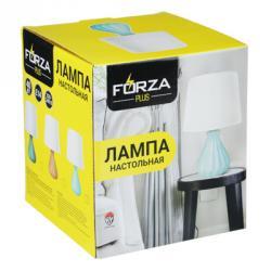 Лампа настольная, E14, 27см, 40 Вт, 220В, керамика, текстиль, 3 цвета
