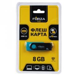 FORZA Флеш-карта, 8гб, 6 класс, матовое покрытие, блистер, пластик