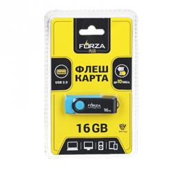 FORZA Флеш-карта, 16гб, 6 класс, матовое покрытие, блистер, пластик