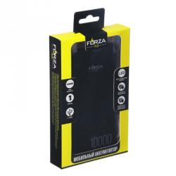 Аккумулятор мобильный , 10000 мАч, 2 USB, 1А, пластик, 2 цвета