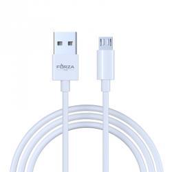 """Кабель для зарядки """"ЭТАЛОН"""" Micro USB, 1м, 2А, коннект с ПК, в пластиковом боксе, белый"""
