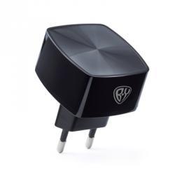 Зарядное устройство USB Вертикальный разъем, 220В, 1USB, 3А, Быстрая зарядка QC3.1