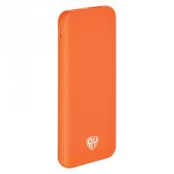 Аккумулятор мобильный, вытянутый, 4000 мАч, 1USB, 2А, прорезиненное покрытие, пластик