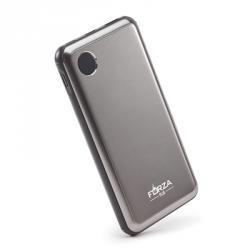 Аккумулятор мобильный, 10000 мАч, 2USB, 2А, пластик, металлик