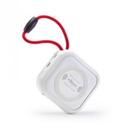 Аккумулятор мобильный с беспроводной зарядкой, 10000мАч, 2 USB, 2A, пластик
