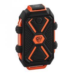 Аккумулятор мобильный, 10000 мАч, USB, 2А, защита IP67, фонарик, Чёрный