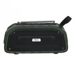 Колонка беспроводная, 2x3Вт, 1200мАч, 200x91x72мм, IP4, радио, USB, AUX, Micro-SD, пластик