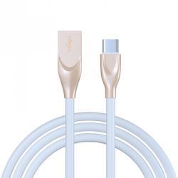 Кабель для зарядки Flat White, Type C, 1м, 2A, пластик, белый