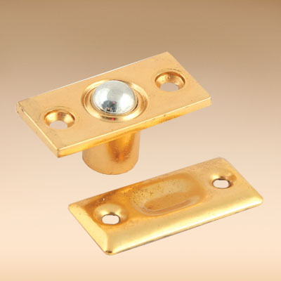 602-012 Фиксатор дверной с шариком золото мал., металл