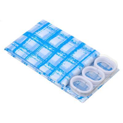 461-042 Шторка для ванной, ПЕВА, 180x180см, 3 цвета, В-035