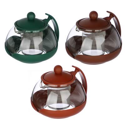 850-704 Чайник заварочный с сеточкой, овальный, 750мл