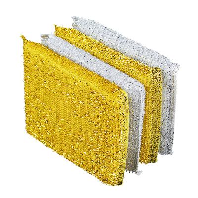 441-200 VETTA Губка кухонная в упаковке 4шт золот-серебр, 8х12см