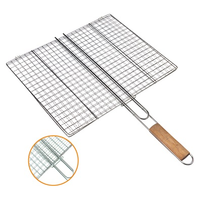 333-822 GRILLBOOM Решетка-гриль для стейков в виде сетки, 40х(32+25)см