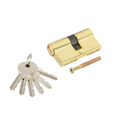 610-447 Сердцевина замка/ Цилиндровый механизм (алюминий/латунь) 60мм(30+30), кл-кл, 6кл (англ), золото