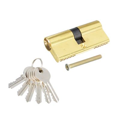610-451 Сердцевина замка/ Цилиндровый механизм (алюминий/латунь) 70мм(35+35), кл-кл, 6кл (англ), золото