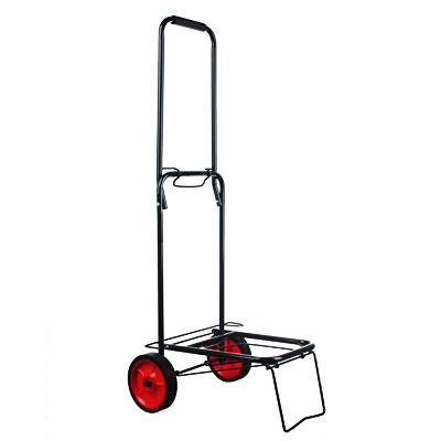 467-152 Тележка для сумок, грузоподъемность 40кг, металл, 95х35х46см, колеса d14см, черная