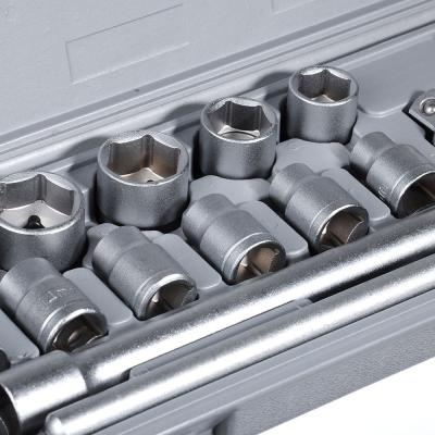 """736-541 ЕРМАК Набор головок, 15 предм., 10-27мм, с карданным шарниром 1/2"""""""