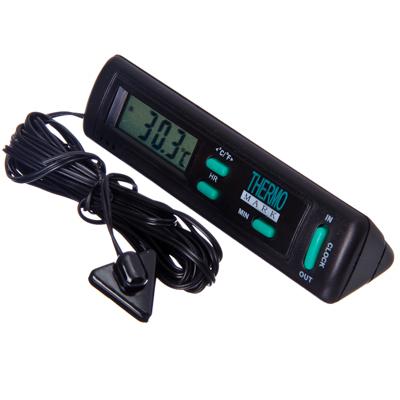 768-008 NEW GALAXY Термометр наружный In Out с часами 16.01.005