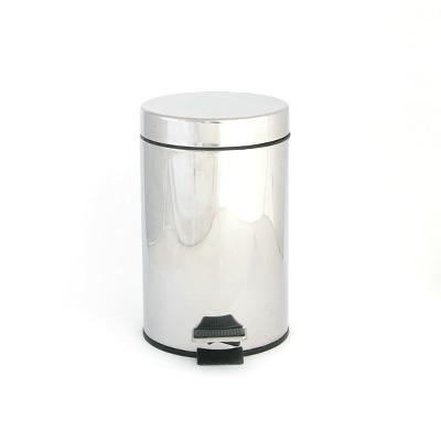 568-285 Ведро для ванной металл хром, 12 л, HS-65003