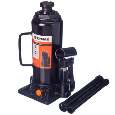 770-022 ЕРМАК Домкрат гидравлический бутылочный 10 т, высота подъема 230-460мм, T91004