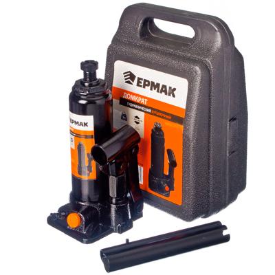 770-026 ЕРМАК Домкрат гидравлический бутылочный 2 т, в кейсе, высота подъема 181-345мм, T90204S