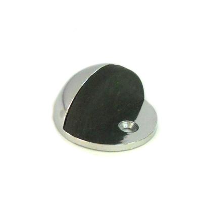 602-057 Упор дверной, металл, полусфера хром