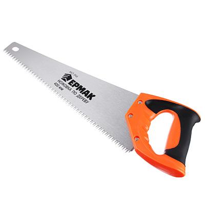 663-846 ЕРМАК Ножовка по дереву 1A, 400мм, зуб 8мм. заточ.