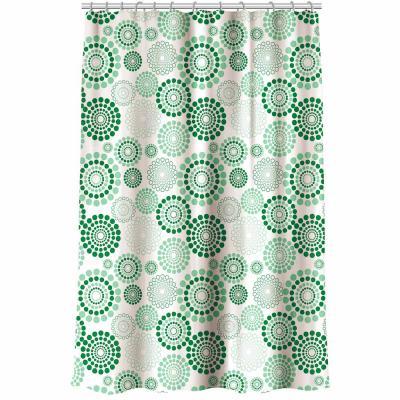 "461-313 VETTA Шторка для ванной, ПЕВА, 180x180см, ""Круги на воде"", 3 цвета"