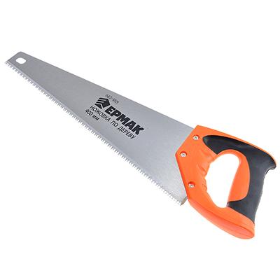 663-958 ЕРМАК Ножовка по дереву 1B, 400мм, зуб 5мм. заточ.