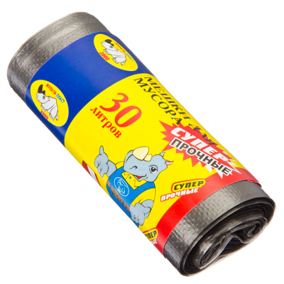 449-003 МУЛЬТИПЛАСТ Мешки для мусора 30л, 20шт, 8 микрон, прочные, арт.020509/960065
